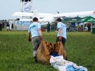 Киевский клуб воздухоплавательного спорта пилот провёл показательные полёты на воздушном шаре.