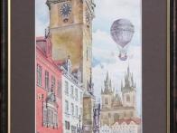 «Старая Прага»  Размер: 27х40. Материал: акварель. Цена: 500 грн. Артикул: 002-009.