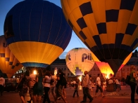 Ночное свечение воздушных шаров