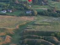 Вот такие яры можно увидеть с корзины воздушного шара