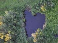 Озеро в виде сердца - специально для влюбленных!