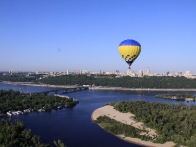 Вид с воздушного шара, Киев с высоты