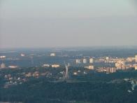 Вид на правый берег с корзины воздушного шара