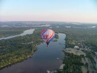 Над Днепром на воздушном шаре