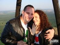 Предложение Руки и Сердца - в корзине воздушного шара!