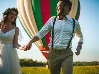 Свадебная фотосессия с воздушным шаром