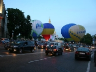 Воздушные шары на Михайловской площади
