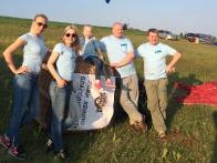 Команда Киевского клуба воздухоплавательного спорта Пилот