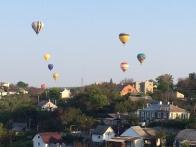 Воздушные шары над городом Каменец-Подольский