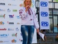 Ведущая Катерина открывает 1-й Международный фестиваль воздушных шаров