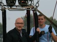 Павел Костицын на воздушном шаре