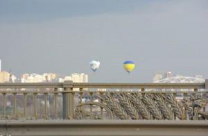 Воздушные шары над Киевом