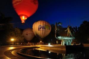 Вечернее свечение воздушных шаров