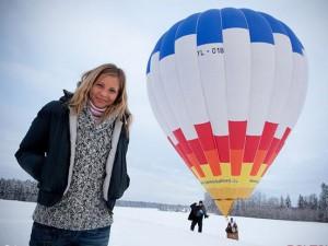 Полет на воздушном шаре зимой
